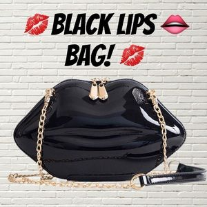 Handbags - BRAND NEW BLACK LIPS CROSS BODY BAG PURSE